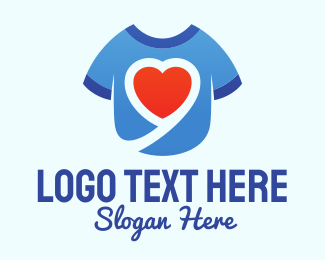 T-shirt - Heart Shirt logo design