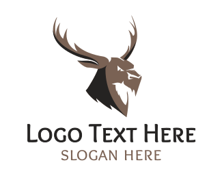 Hunting Equipment - Angry Elk logo design