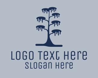Winter - Winter Tree logo design