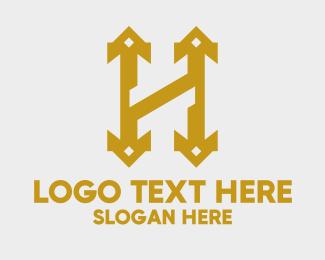 Pointed - Royal Letter H logo design