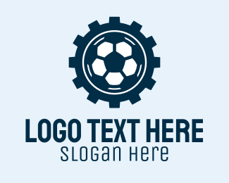 Soccer - Soccer Ball Gear  logo design