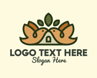 Pet Lover - Bird Birdhouse Shelter logo design