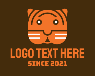 Cartoon - Cartoon Tiger Head logo design