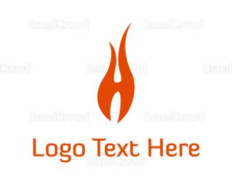 Blaze - Fire Letter  logo design