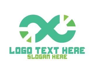 Virtual Reality - Tech Loop logo design