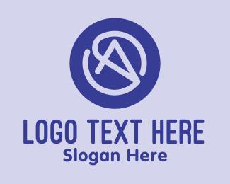 Cursor - Purple Cursor Letter A logo design