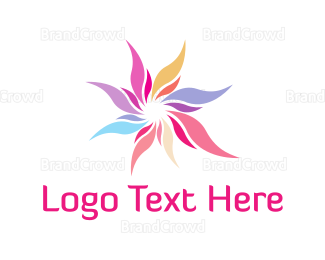 Flower Shop - Colorful Flower logo design