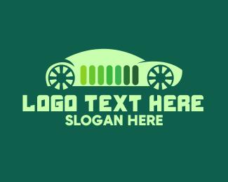 Hybrid - Green Energy Eco Electric Car logo design