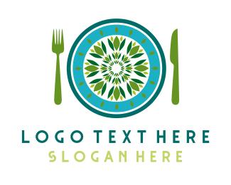 Eating - Green Restaurant logo design