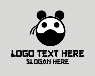 Asia - Ninja Panda Bear logo design