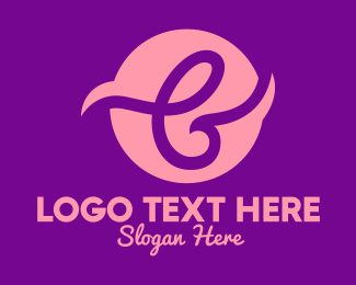Skincare - Pink Letter B logo design