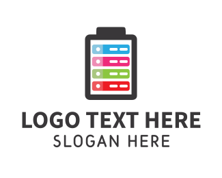 Loading - Colorful Battery logo design