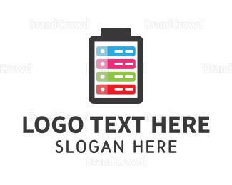 Complete - Colorful Battery logo design