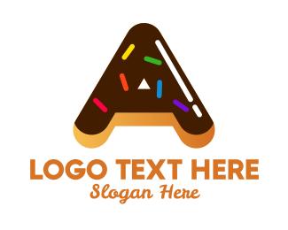 Sugar - Donut Bakeshop Letter A logo design