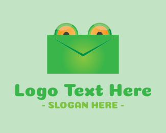 Inbox - Frog Mail Envelope logo design