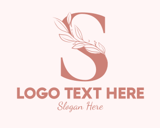Aesthetics - Elegant Leaves Letter S logo design