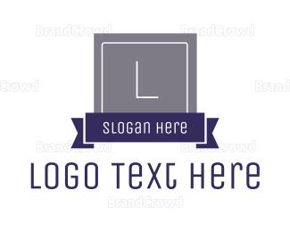 Contemporary - Business Badge Lettermark logo design