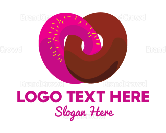 Bakeshop - Donut Heart logo design