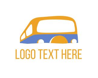 Caravan - Campervan Bus logo design
