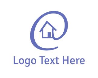 House - Online Property logo design