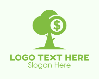 Euro - Green Money Tree logo design