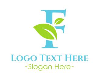 Letter F - Eco Letter F logo design