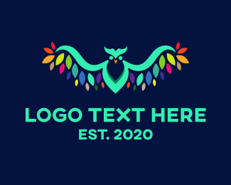 Color - Colorful Owl logo design