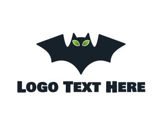 Alien - Alien Bat logo design