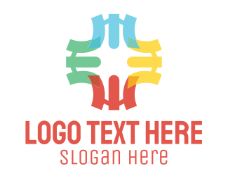 Cross - Colorful Cross logo design