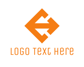 Spear - Orange Arrow logo design