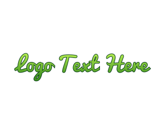 Script - Gradient Green Script logo design