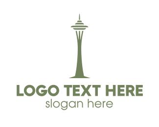 Planner - Space Needle logo design