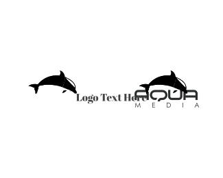 Aqua - Black Dolphin logo design