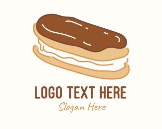 Yummy - Chocolate Eclair Sweet Pastry logo design