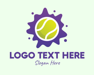 Wet - Tennis Ball Splatter logo design