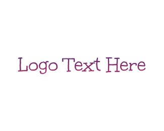 Babysitter - Purple Gradient Handwriting logo design