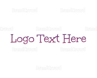 Learning Center - Purple Gradient Handwriting logo design