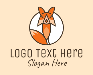 Animal Sanctuary - Fox Animal Character logo design
