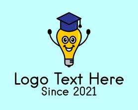 Intelligent - Academic Lightbulb Mascot logo design