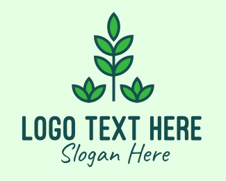 Veggie - Green Eco Plant logo design