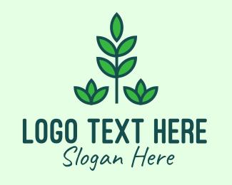 Garden - Green Eco Garden Plant logo design