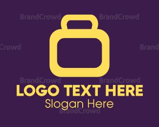 White - White Suitcase logo design