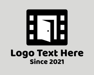 Actor - Film Strip Door logo design