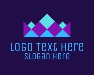 Neon - Neon Geometric Crown logo design