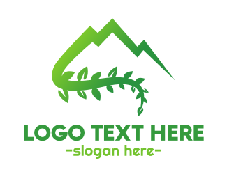 Green Mountain - Moutain Vine  logo design