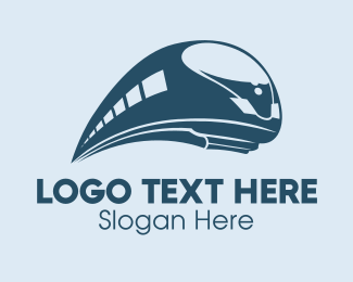 Toy Train - Bullet Train Transportation logo design