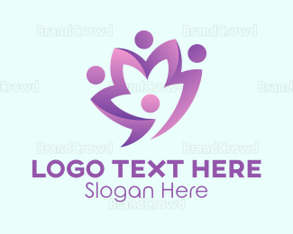 Flower Shop - Purple Flower logo design