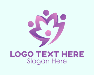 Lotus - Purple Flower logo design