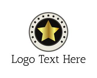 Black And Gold - Golden Star logo design