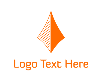 Financial - Orange Arrow logo design